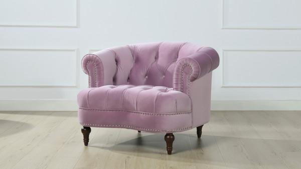 La Rosa Tufted Accent Chair, Lavender