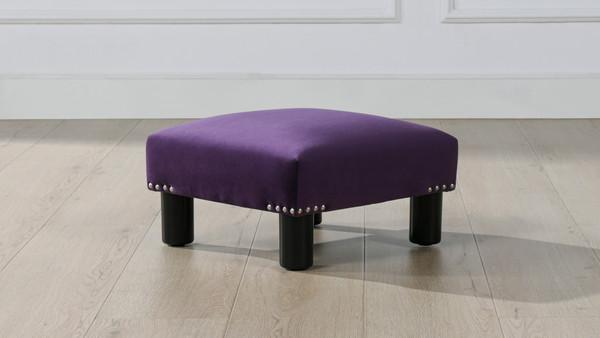 Jules Square Accent Ottoman, Purple