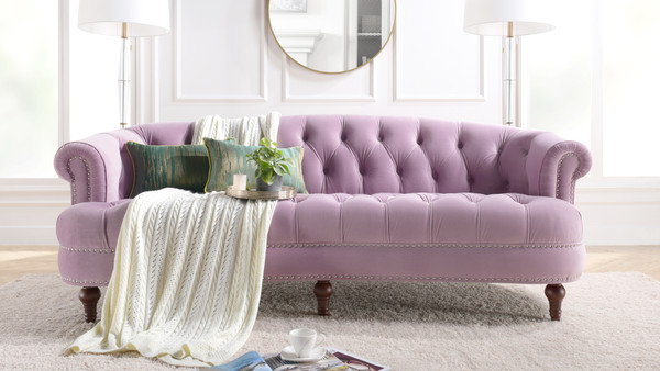 La Rosa Chesterfield Sofa, Lavender