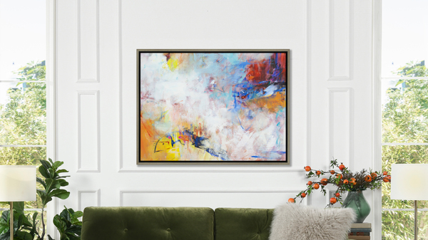 Euphoria 1 50x38 Abstract One-of-a-Kind Original Art Oil Painting with Frame