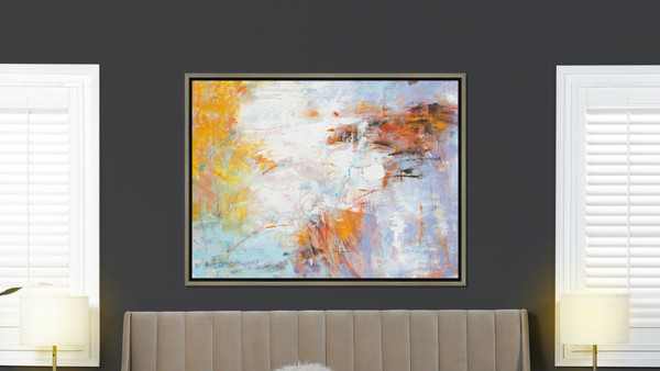 Euphoria 2 50x38 Abstract One-of-a-Kind Original Art Oil Painting with Frame