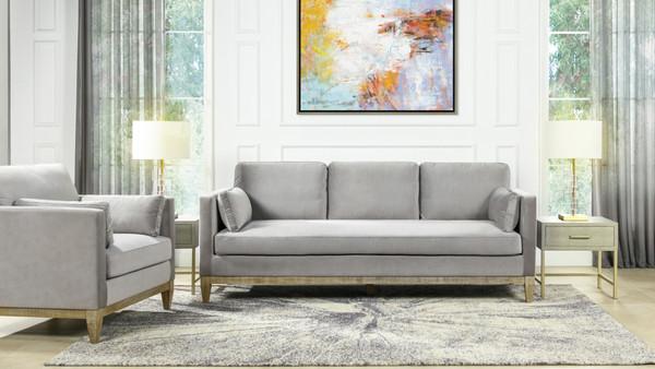 "Knox 84"" Modern Farmhouse Sofa, Opal Gray"