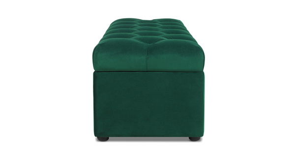 Arlo Tufted Storage Bench, Evergreen