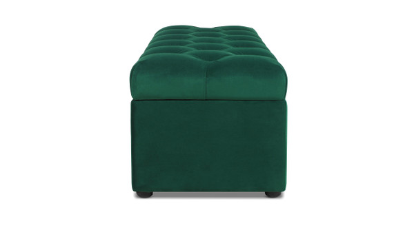Arlo Tufted Flip Top Storage Bench, Evergreen