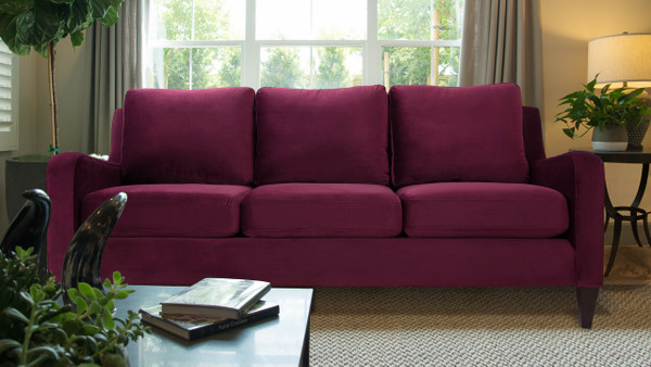 Serena Lawson Sofa, Burgundy