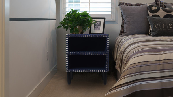Zane Nightstand, Midnight Blue
