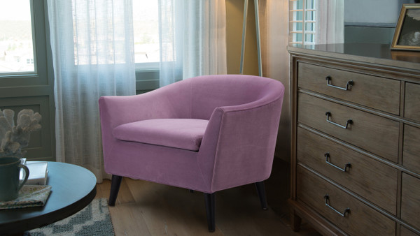 Lia Barrel Chair, Lavender