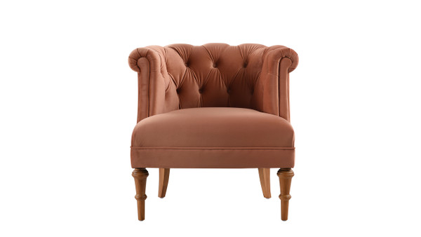 Katherine Tufted Accent Chair, Orange