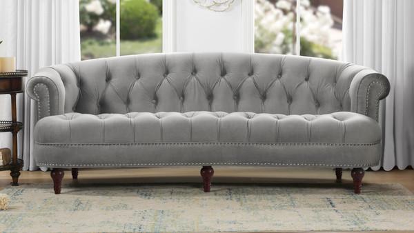 La Rosa Chesterfield Sofa, Opal Grey