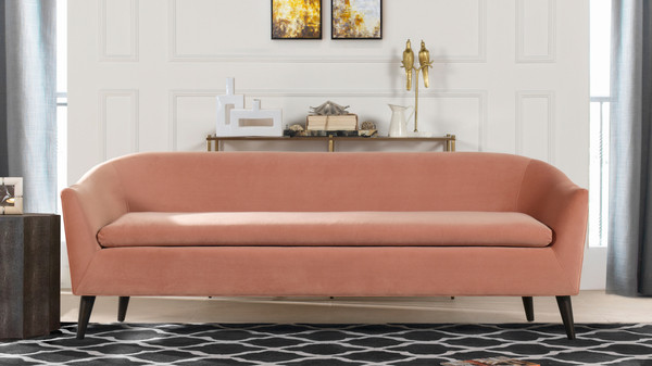 Lia Mid-Century Modern Sofa, Peach Orange