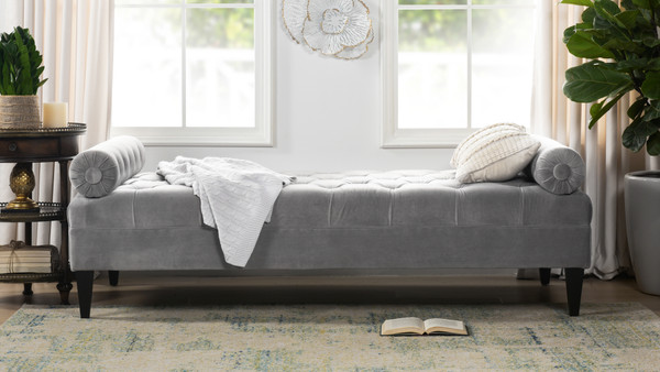 Robert Tufted Sofa Bed, Opal Grey