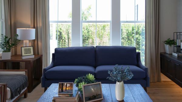 Ariana Upholstered Sofa, Midnight Blue