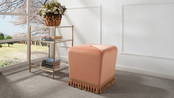 Colleen Accent Ottoman, Orange