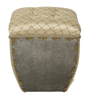 Jan Traditional Decorative Ottoman, Brown