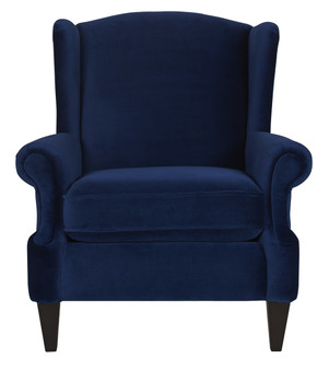 Anya Arm Chair, Navy Blue