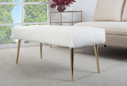Juliette Faux Fur Bench
