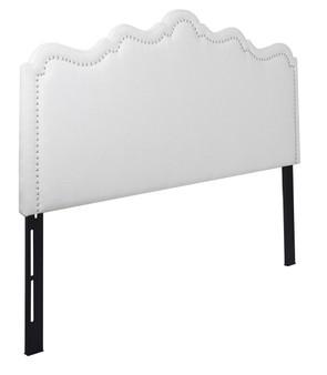 Ela Upholstered Headboard, Antique White (King size)