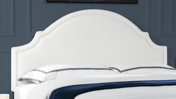 Catherine Upholstered Headboard, Antique White (King Size)