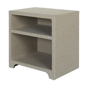 Jason Nailhead Side Table, Taupe