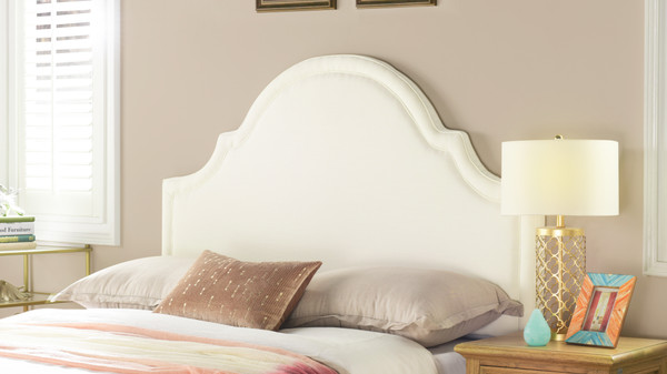 Catherine Upholstered Headboard, Antique White (Queen Size)