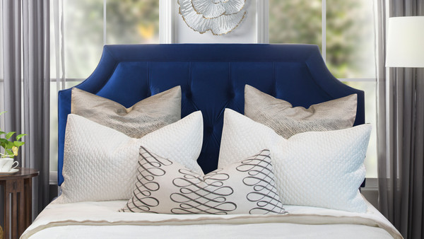 Kaye Tufted Headboard, Navy Blue (King Size)