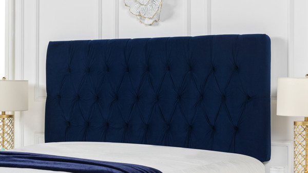 Maya Tufted Headboard, Navy Blue (Queen Size)