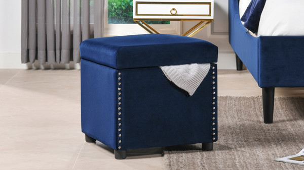 Hailey Storage Cube, Navy Blue