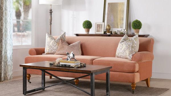 Alana Lawson Sofa, Orange