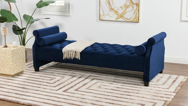 Eliza Upholstered Sofa Bed, Navy Blue