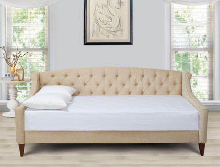Lucy Upholstered Sofa Bed, Beige