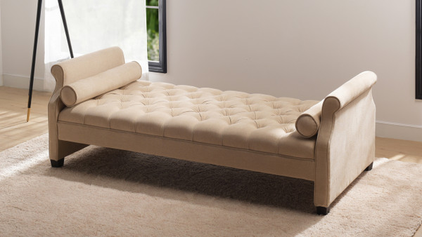 Eliza Upholstered Sofa Bed, Beige