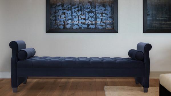 Eliza Upholstered Sofa Bed, Dark Navy Blue