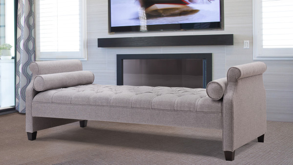 Eliza Upholstered Sofa Bed, Light Grey