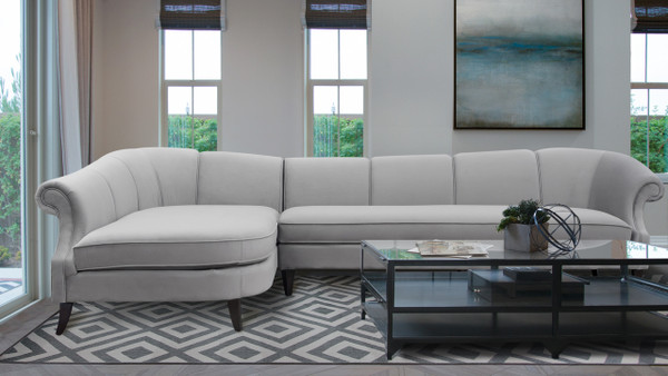 "Victoria 131"" Upholstered Sectional Sofa"