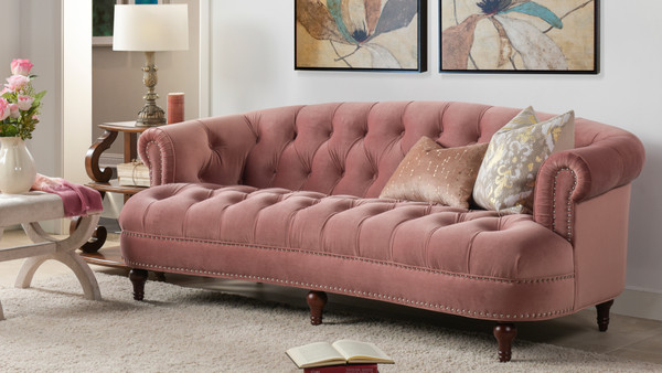 La Rosa Chesterfield Sofa, Ash Rose