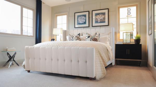 David Upholstered Bed, King, Sky Neutral