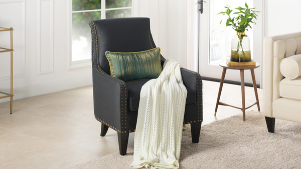 Florence Arm Chair, Dark Grey
