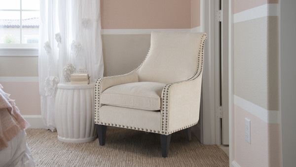 Florence Arm Chair, Crème Brulee