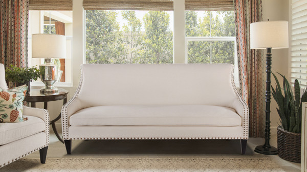 Florence Tight Back Sofa, Sky Neutral