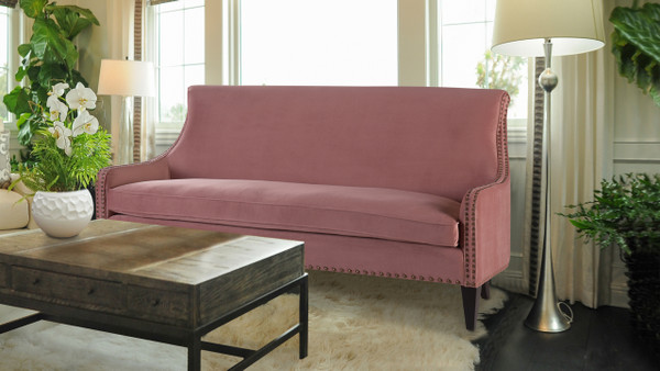Florence Tight Back Sofa, Ash Rose