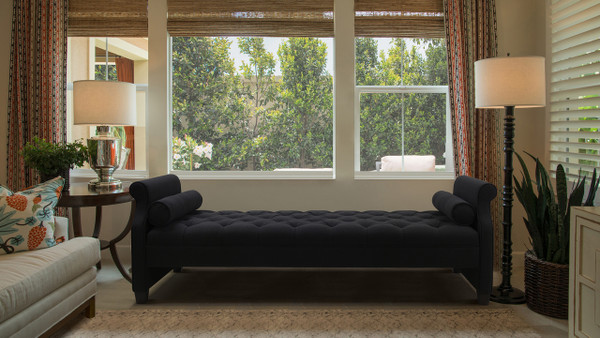 Eliza Upholstered Sofa Bed, Jet Black