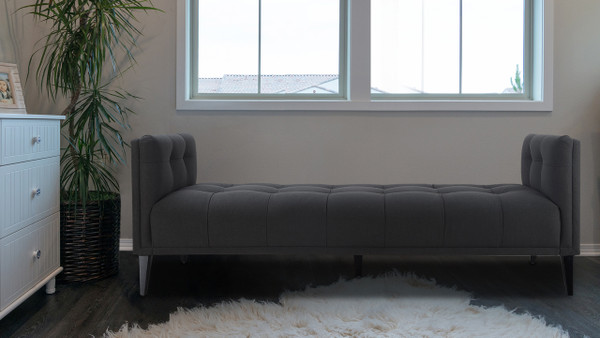 Reese Tufted Sofa Bed, Jet Black