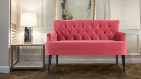 "Mia 52"" Tufted Accent Settee"