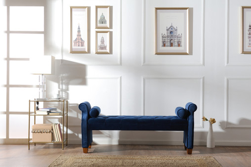 Jocelyn Roll Arm Lounge Entryway Bench