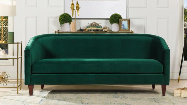 Annette Cabriole Sofa, Evergreen