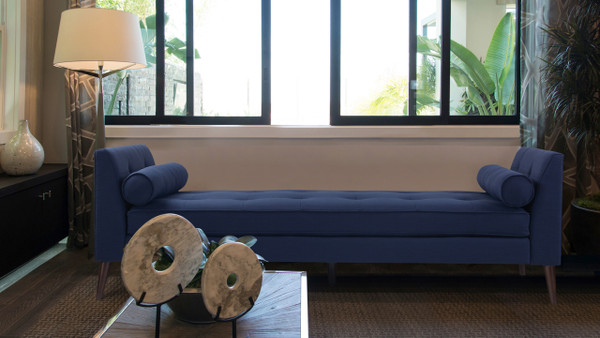 Blaine Tufted Daybed, Midnight Blue