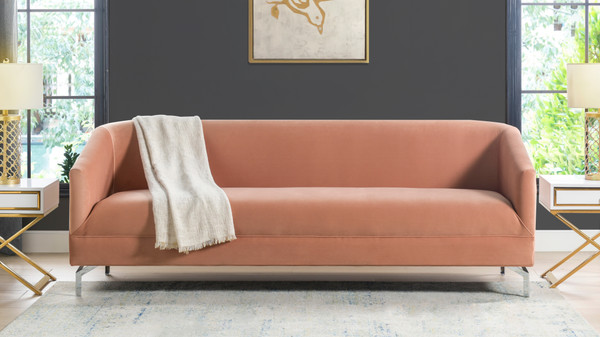 Elaine Tight Back Sofa, Peach Orange