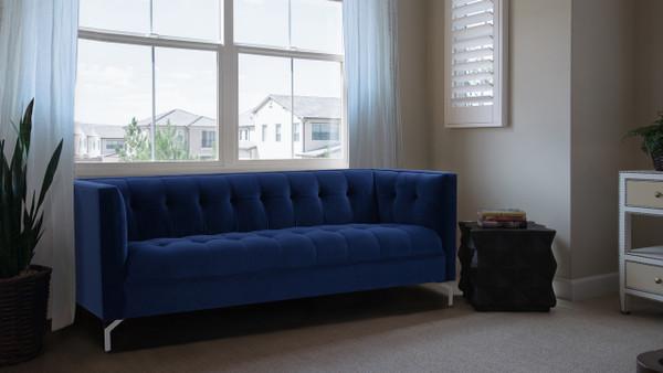 Jackson Tuxedo Sofa, Navy Blue