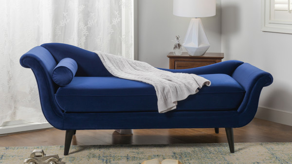 Kai Chaise Lounge, Navy Blue