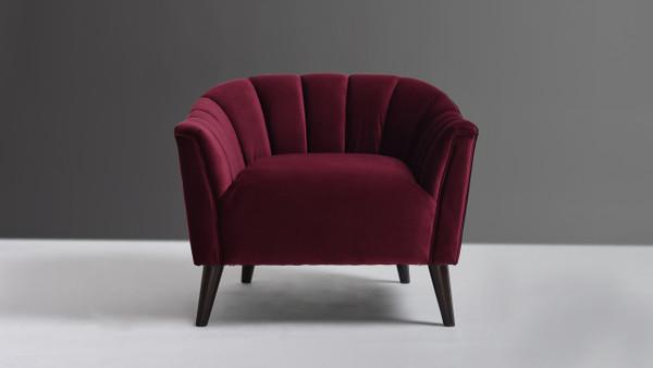 Sienna Accent Arm Chair, Burgundy